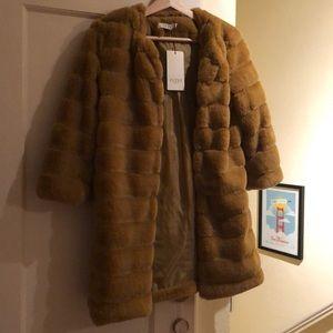 Jackets & Blazers - Faux fur 3/4 coat
